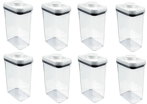 Oxo 1071397 2.5 Quart Pop Rectangle Food Storage Container - Quantity 8