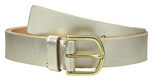Fossil Women's METALLIC JEAN BELT Champagne med by Fosil