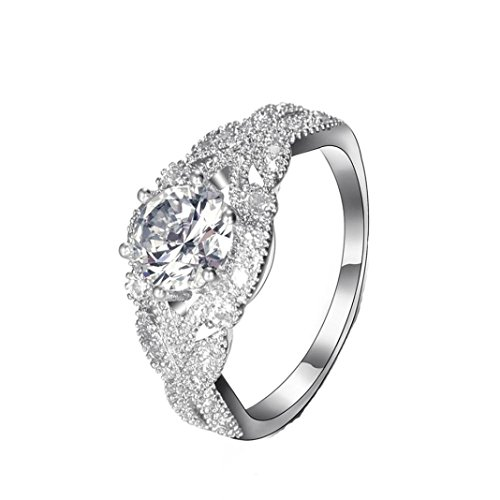 SMALLE◕‿◕ Clearance,Diamond Wedding Band Wedding Lover Copper Stack Ring Above Knuckle Rings ()