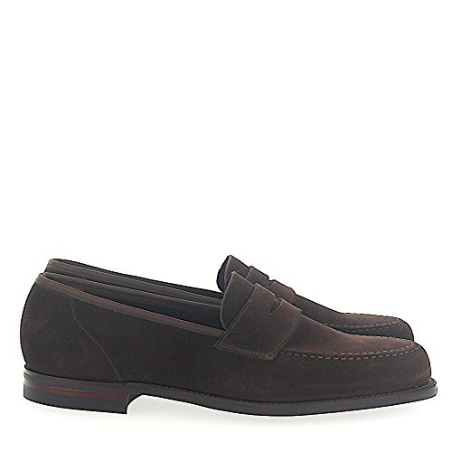 Penny Loafer Harvard 2 Veloursleder Bruin Goodyear Welted