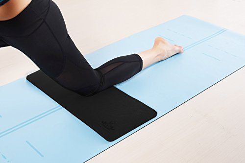 "Yoga Knee Pad by Heathyoga, Great for Knees and Elbows While Doing Yoga and Floor Exercises, Kneeling Pad for Gardening, Yard Work and Baby Bath. 26""x10""x½"""