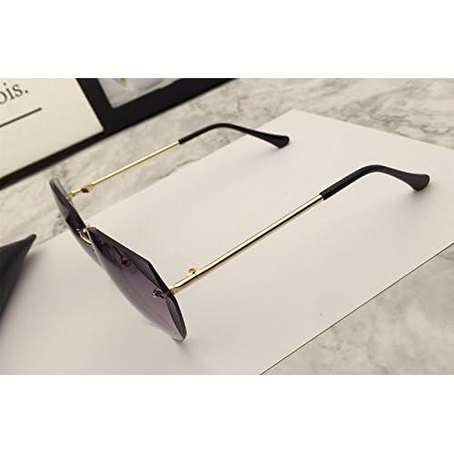 11bf412d99 De alta calidad LXKMTYJ Bastidor De Gradiente Sin Cerco De Moda Gafas De  Sol De Color