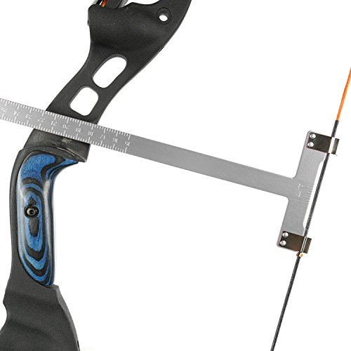 - Chaungtong Bow Square Archery T Ruler 12 inches Measurement Compound Recurve Bow (CT013,Silver)