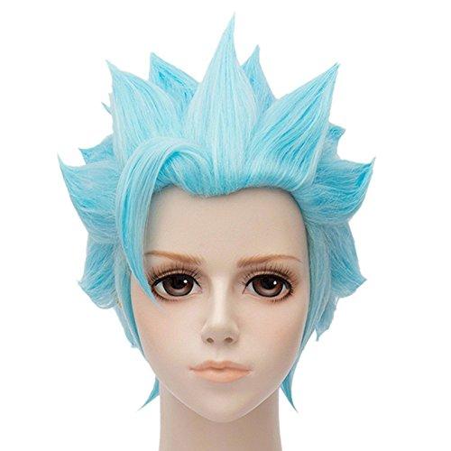 Tsnomore blue spiky wig Seven Deadly Sins