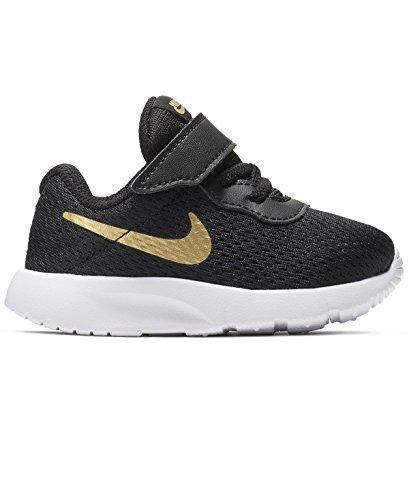 Nike 818383-016: Toddler Tanjun (TDV) Running Black/Metallic Gold Sneaker (6 Toddler M)