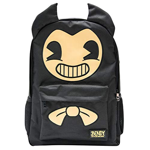 Bendy and the Ink Machine Backpack - Black Bendy Knapsack (Bendy Big Face)]()