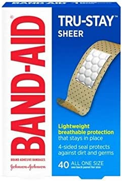 BAND-AID Sheer Strips Adhesive Bandages, All One Size 40 ea (Pack of 24)