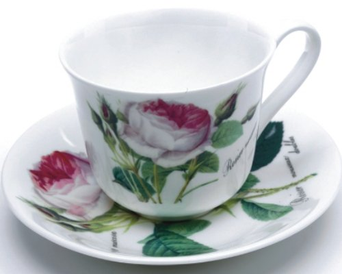 Roy Kirkham Redoute Rose Breakfast Cup and Saucer