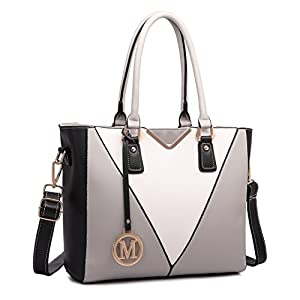 Miss Lulu Leather Look V-Shape Shoulder Handbag