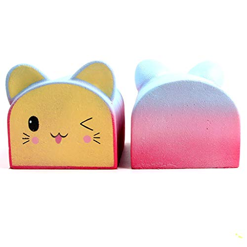 Stress Relief Toys For Adults Office Collect Gift Fruit Scented Slow Rising Squeeze Decoration Party Boy Girl Decoration Rainbow Cat Head Bread Slow Rebound Children's Decompression Vent Cure Toys -