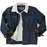 Wrangler Authentics Boys' Big Western Lined Denim Jacket