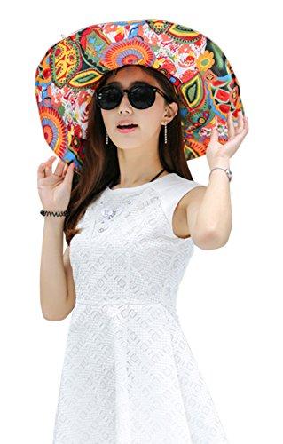 e4dde703c22 Women s Reversible Sun Hat with Chin Strap Floppy Wide Brim Packable Sun  Protection Travel Beach Cap