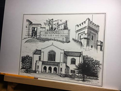Citadel - hand-drawn pen and ink print by Campus Scenes (Image #1)