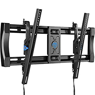 PERLESMITH Tilting TV Wall Mount Bracket for Most 40-82 Inch LED LCD OLED 4K Curved Flat Screen TVs - 12 ° Tilt Mounting Bracket with VESA 600x400mm Holds up to 135 LBS, Can Be Leveled