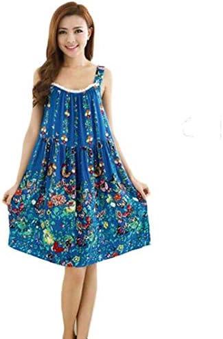 Nightgown Dames Vintage Mode Bloemen Print Nacht Jurk Mouwloos Klassieke Sling Backless Casual Losse Pajama Slaap Jurk Slaapmode Zomer Kleding