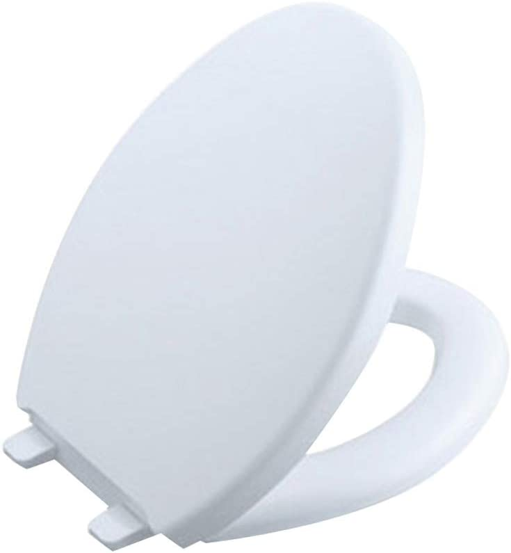 JJJJD トイレのふたホワイトイージークリーンクイックリリースVシェイプ便座 - 抗菌/ソフト閉じる