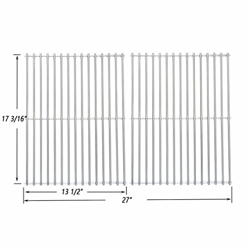 Onlyfire Stainless Steel Cladding Rod Cooking Grates / Cooking Grid Replacement Fit for Original Part 59812, Brinkmann, Grill Master, Nexgrill and Uniflame Gas Grills and Others, Set of (Rod Grids)