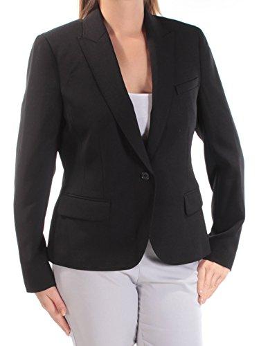 Anne Klein Womens New 1296 Black Blazer Wear to Work Jacket 12 B+B