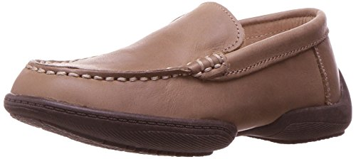 Taupe Kid Leather (Kenneth Cole REACTION Boys' Driving Dime Loafer, Taupe, 6 M US Big Kid)