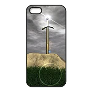 iPhone 5, 5S Phone Case Sword in the Stone Personalized Cover Cell Phone Cases GHR762633