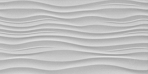 """Emser Tile F72SURFRIG1224 """"Surface"""" Porcelain Tile, 12"""" x 24"""", Ripple Gray"""