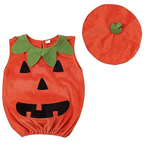 Baby Boy Girl Halloween Costumes Newborn Outfit Pumpkin