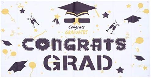 ABOOFAN graduatie 1PC Graduation Party Poster Festival Graduation Avonden Decor Grad Party Decoratieve Banners Graduation Achtergronddoek voor Party Decor Poster Style 3