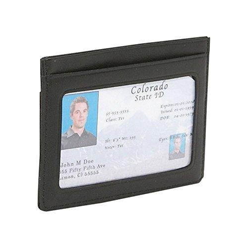 Royce Leather Mini ID & Credit Card Holder (Black)
