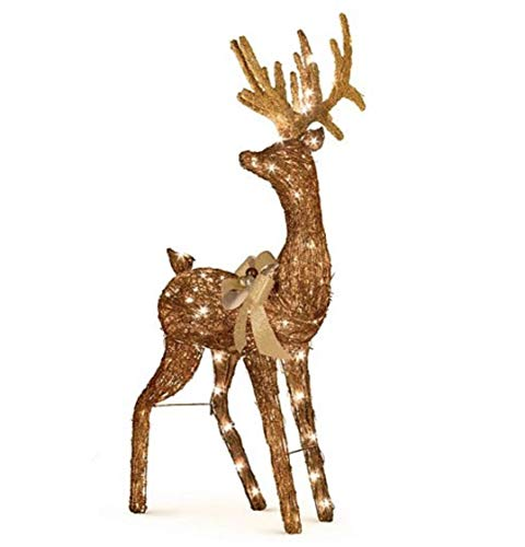 Outdoor Lighted Grapevine Deer in US - 4