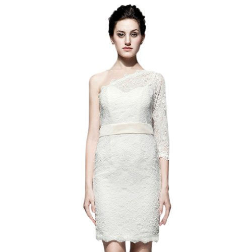 Dearta Women's Sheath/Column One-Shoulder Short/Mini Lace...