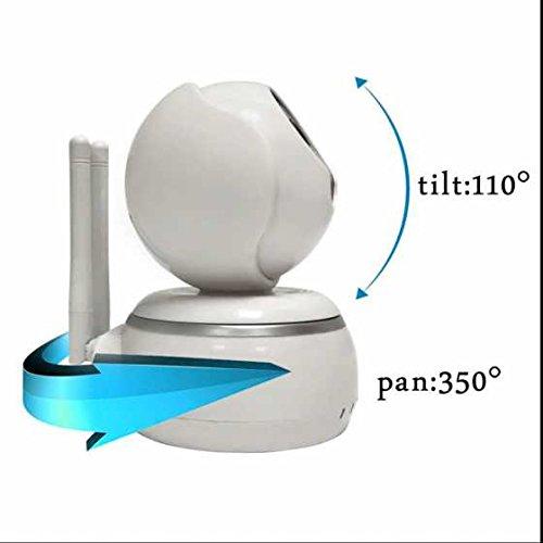 WIFI IP Überwachungskamera, Lichtsensor Remote Access ,gebaut Mikrofon und Lautsprecher ,Alarm Sicherheitskamera mit Baby Monitor 720p HD Audio & Nightvision IP Camera für IOS Android