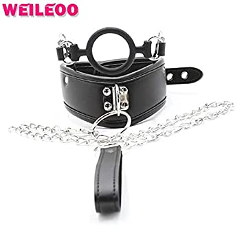 Leather Neck Collar BDSM Slave Collar Torture BDSM Bondage Restraints  Erotic Toys Adult Sex Toys for