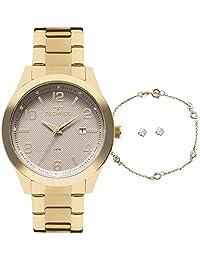 ad4a7f95828 Relógio Technos Feminino Ref  2115kzv k4c Dourado + Semijóia