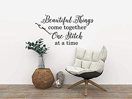 Sew much fabric....Funny Sewing Wall Decal Quotes Words Sayings Wall Lettering