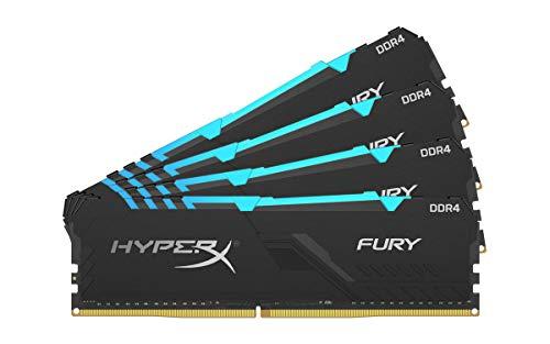 HyperX Fury 64GB 2400MHz DDR4 CL15 DIMM (Kit of 4) RGB XMP Desktop Memory HX424C15FB3AK4/64