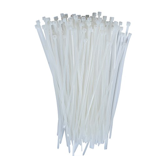 DXG Petrel S39 Self Locking Nylon Cable Zip Ties, 2.5150mm, 6'' L, White, Pack of 100 ()