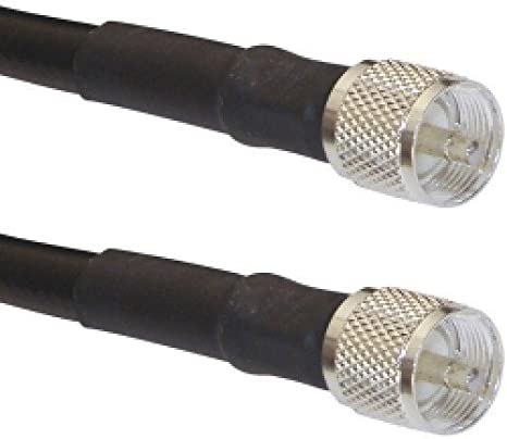 Times Microwave LMR-400 Ham /& CB Coax Cable 50ft w//PL-259 connectors MADE IN USA