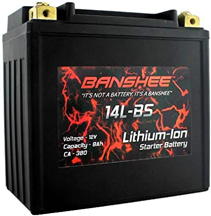 Banshee YTX14L-BS Lithium Motorcycle Battery for HARLEY-DAVIDSON XL, XLH (Sportster) Year (04-17)