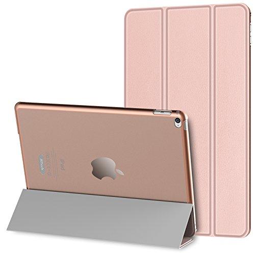 JETech iPad Mini 4 Hülle Schutzhülle Etui Tasche Abdeckung Ledertasche mit Durchschaubar Rückseite für Apple Neu iPad Mini 4 mit Automatischen Schlaf / Wake (Roségold) - 3280D