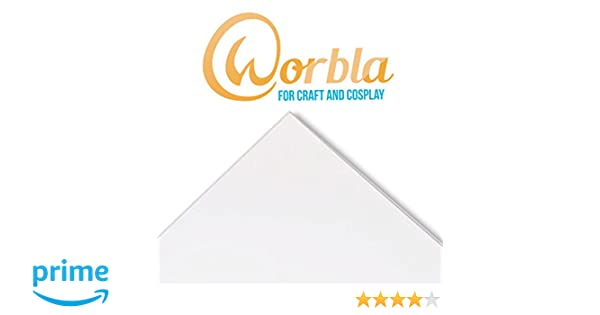 29x19 Inch Sheet Worbla CLEAR TranspArt Size M Thermoplastic Material for Cosplay and Crafts