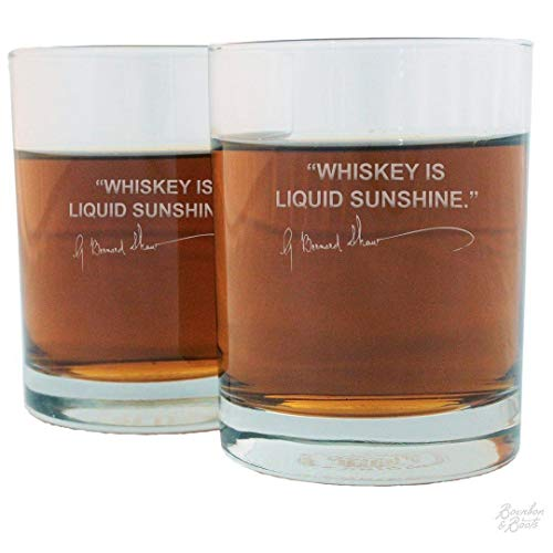 Scotch Lovers Engraved Personalized Whiskey Glasses (Set of 2) -