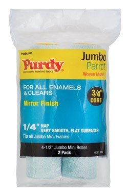 Purdy 140624040 Jumbo Mini Parrot Roller Replacements, 2-Pack, 4-1/2 inch x 1/4 inch nap ()