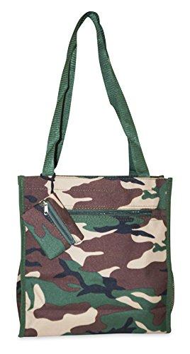 Ever Moda Camo Tote Bag (Green)
