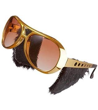 Gafas Oro Gafas de sol Rock n Roll Elvis King excrementos ...
