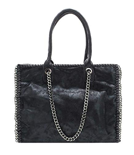 Tela Bag Hello Vogue Bolso Mode By De amp; Negro Para Mujer qd04w0x1
