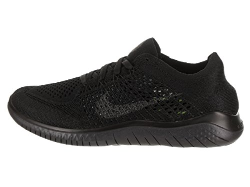 Nike Women's Free Rn Flyknit 2018 Running Shoe (6 M US, Black/Anthracite) by Nike (Image #2)