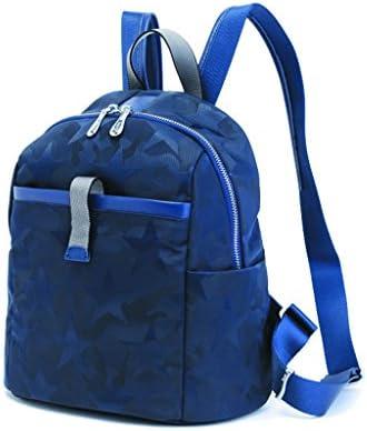 女性のミニバックパックパーソナライズカモフラージュオックスフォード布防水バックパック(ブルー) (色 : Blue)
