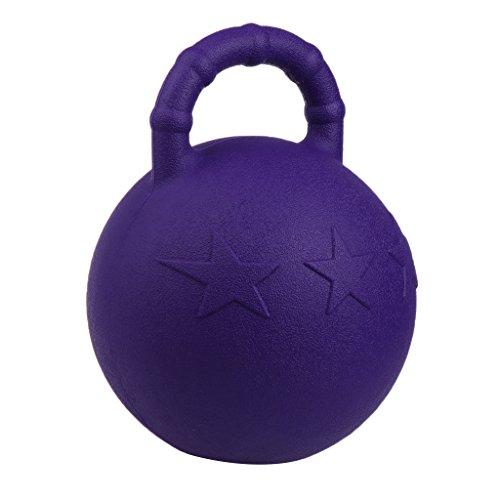 Kesoto 2Pcs Pony Bounce Jolly Ball Stable Field Toy Anti-Burst Horse Soccer Balls, Green and Purple by Kesoto (Image #6)
