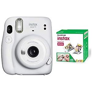 RetinaPix Fujifilm Instax Mini 11 Instant Camera - Ice White with 40 Shots Film Pack
