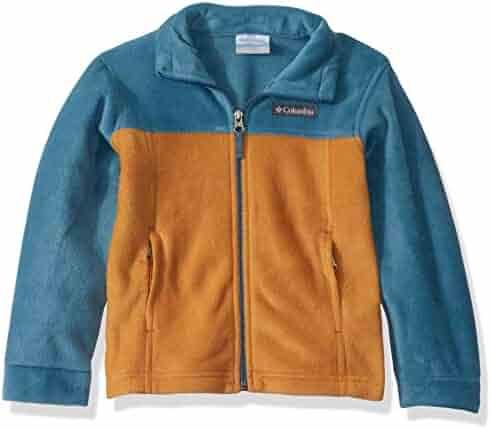 Columbia Boys Steens Mt II Fleece Jacket, canyon gold/blue heron, Small